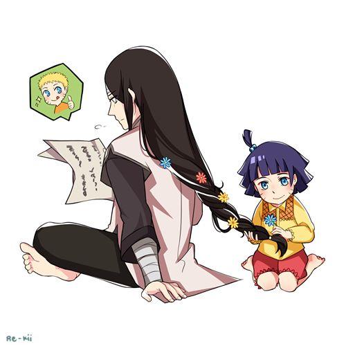 Neji and Himawari.