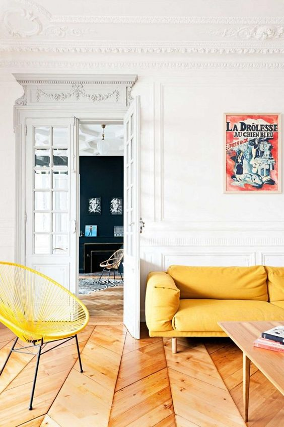 Old Meets New in This Chic French Apartment via @MyDomaine