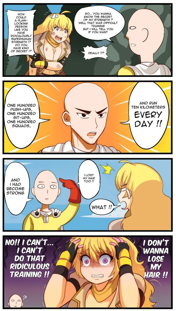 (Onepunchman x RWBY) : How to get Stronger by Rouzille on DeviantArt