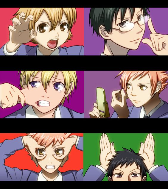 Ouran High School Host Club funny faces