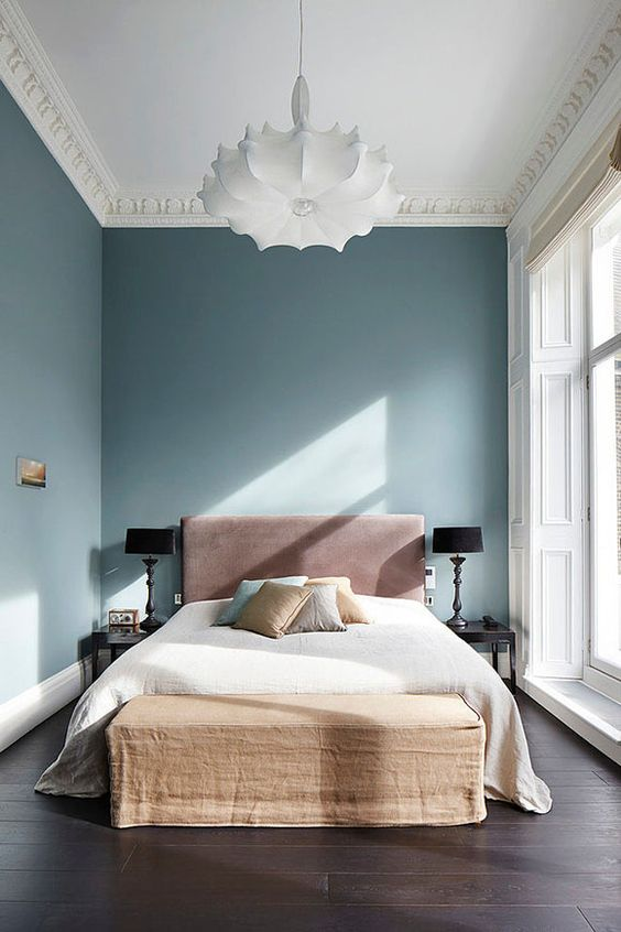 Peaceful Color palette for this Bedroom