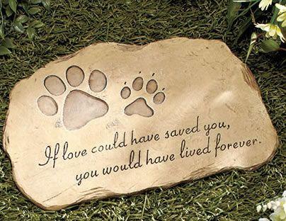 Pet Memorial Garden Stones $