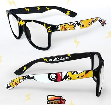 Pikachu Pokemon glasses by Ketchupize. Ooooh, I wish they had these available for prescription eyewear! :)