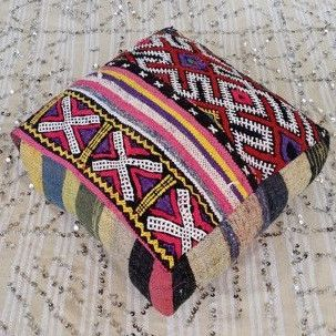 Pink and red floor cushion. #pink&red #FloorCushions #bohemian