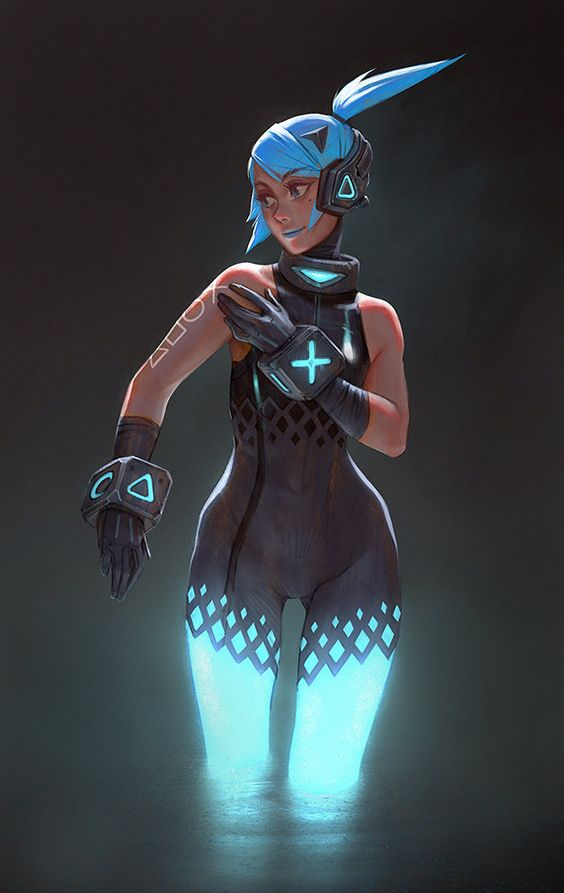 PS4 girl, Gui Guimaraes on ArtStation at