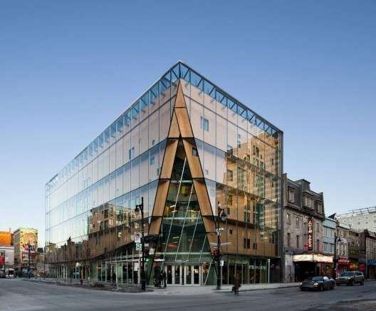 quartier des spectacles - The Quartier Des Spectacles is the latest building to emerge on the streets of the arts and entertainment district in Montreal, Canada. A