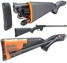 Rifle that fits inside its own stock. Waterproof.
