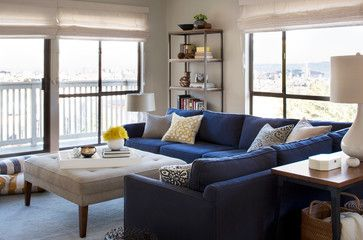 Room Plan With Navy Blue Corner Sofa Design Ideas, Pictures, Remodel, and Decor - page 4