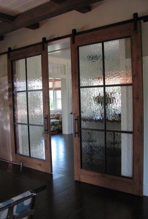 Rustic barn doors are the new rage when it comes to home decor.