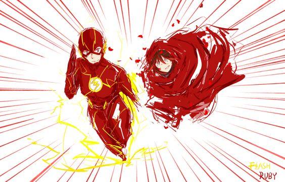 RWBY Ruby and flash