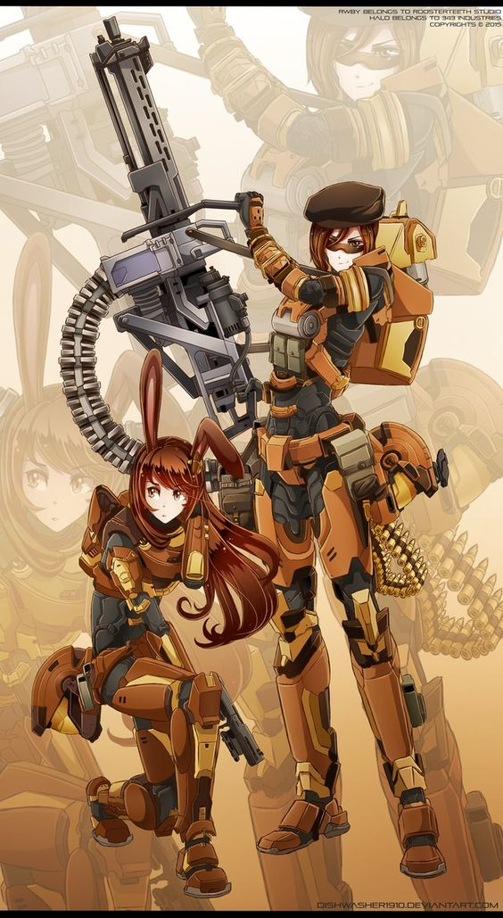 RWBYxHalo: Coco and Velvet - SPARTAN armour by dishwasher1910 on DeviantArt