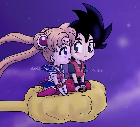 Sailor Moon and Goku / A whole new world by *Euphoric-Geek on deviantART