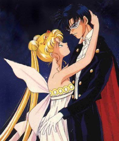 Sailor Moon and Tuxedo Mask
