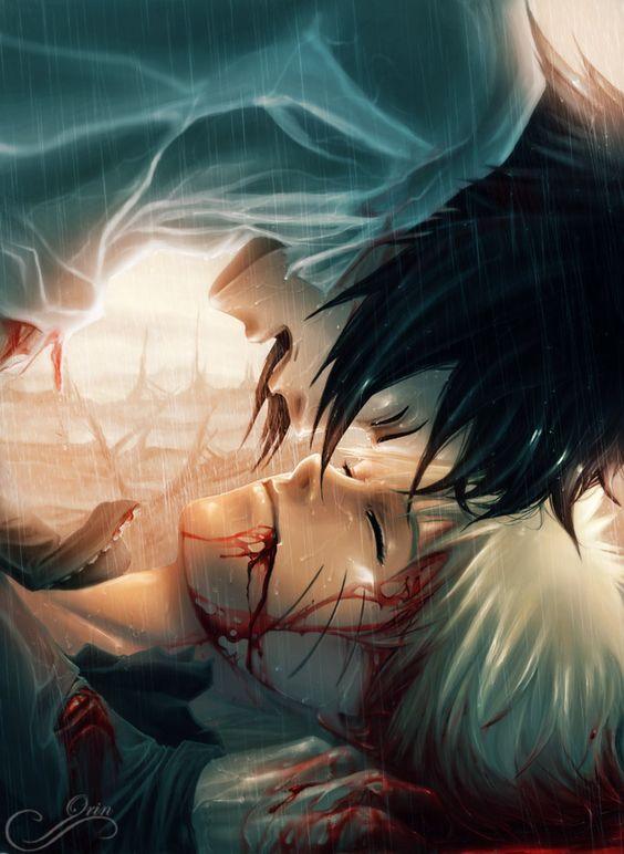 Sasuke & Naruto I believe that if Naruto does die, Sasuke would react like this