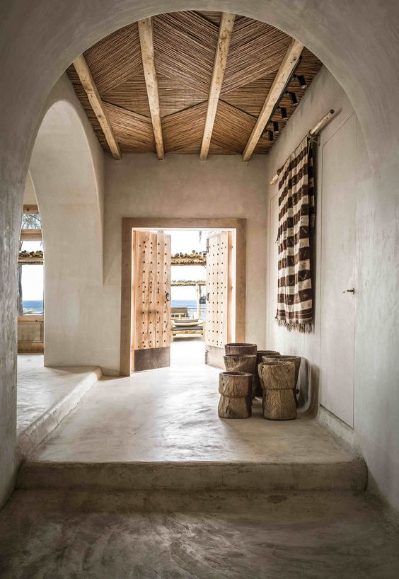 Scorpios Mykonos is the celebration of traditional craftsmanship, organic materials and a bohemian style interior design, presenting a tactile laid-back luxury atmosphere.