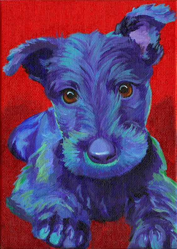 Scottie Dog Original Scottie Dog PRINT 8 x by CorinaStMartinArt, $
