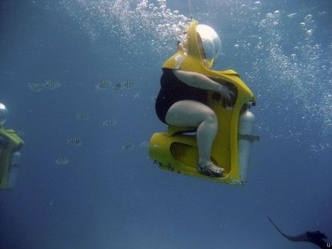 Scuba diving chair - this is really  still-epic.