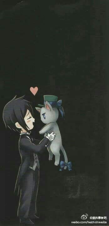 Sebastian-- he doesn't always show his kawaii-desu ne side, but when he does, he does it right. :]