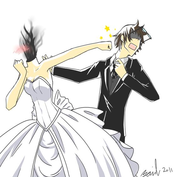 Shinra x Celty : Wedding Day by ToastBuggy