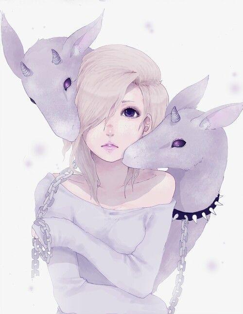 silver hair anime guy pastel goth - Google-haku