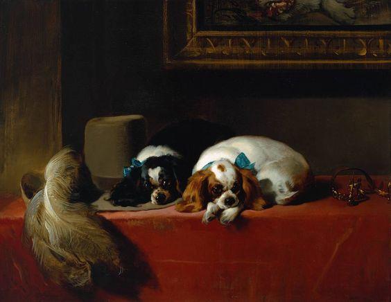 Sir Edwin Henry Landseer, 'King Charles Spaniels ('The Cavalier's Pets')' 1845, exhibited 1845