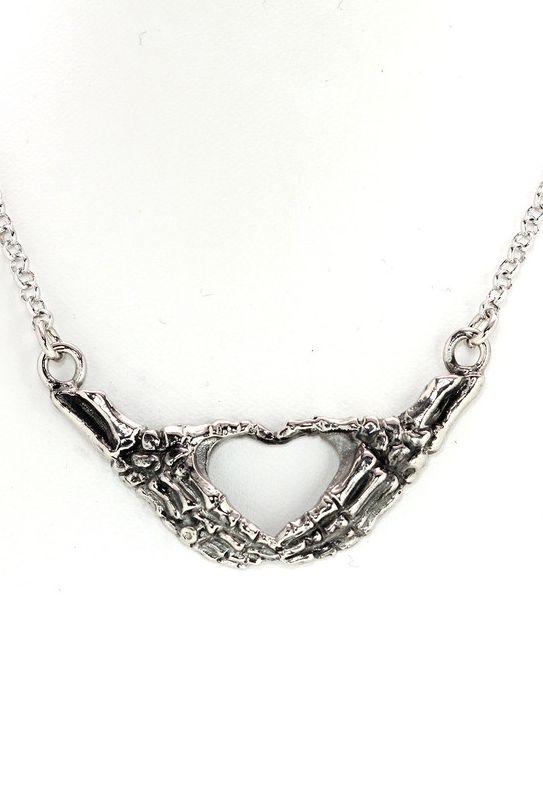 Skeleton heart necklace