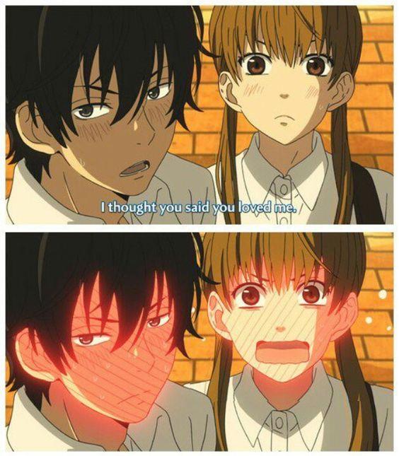 So cute blushing anime scene . Tonari no Kaitbutsu-kun FOUND IT
