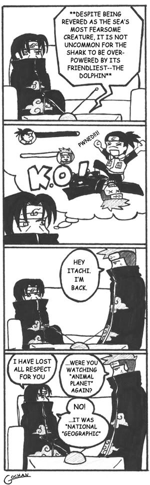 So funny. Itachi, Iruka, and Kisame from Naruto.