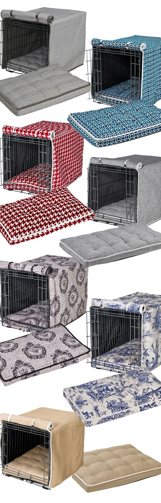 Spruce up your dog's home with our selection of designer crate covers and crate mattresses. Not only offering a refined look, crate covers and mattresses make a wire crate more comfortable and secure for your dog.