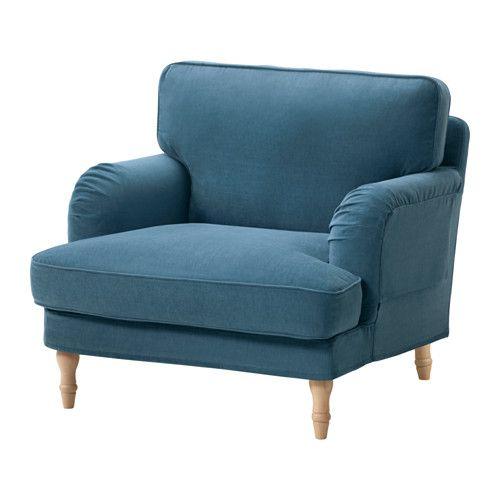 STOCKSUND Chair - Ljungen blue, light brown - IKEA