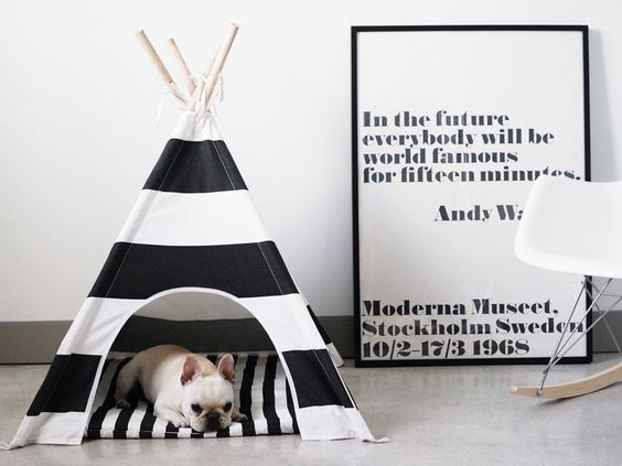 Striped Dog Teepee by #pipolli