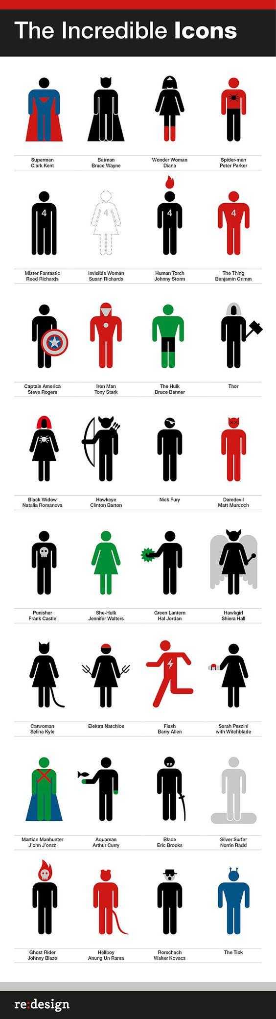 Superheroes + Supervillains icons