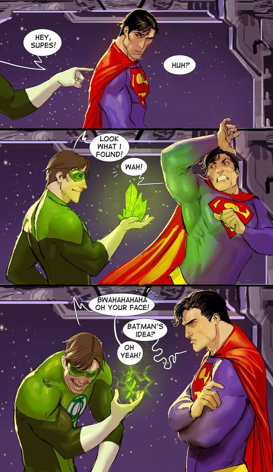 Superman and Green Lantern. Yet another reason I wont be allowed to have any super powers
