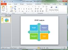 swot template for ppt.