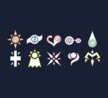 Symbols of Courage, Friendship, Love, Knowledge, Sincerity, Reliability, Hope, Light, Kindness and Miracles