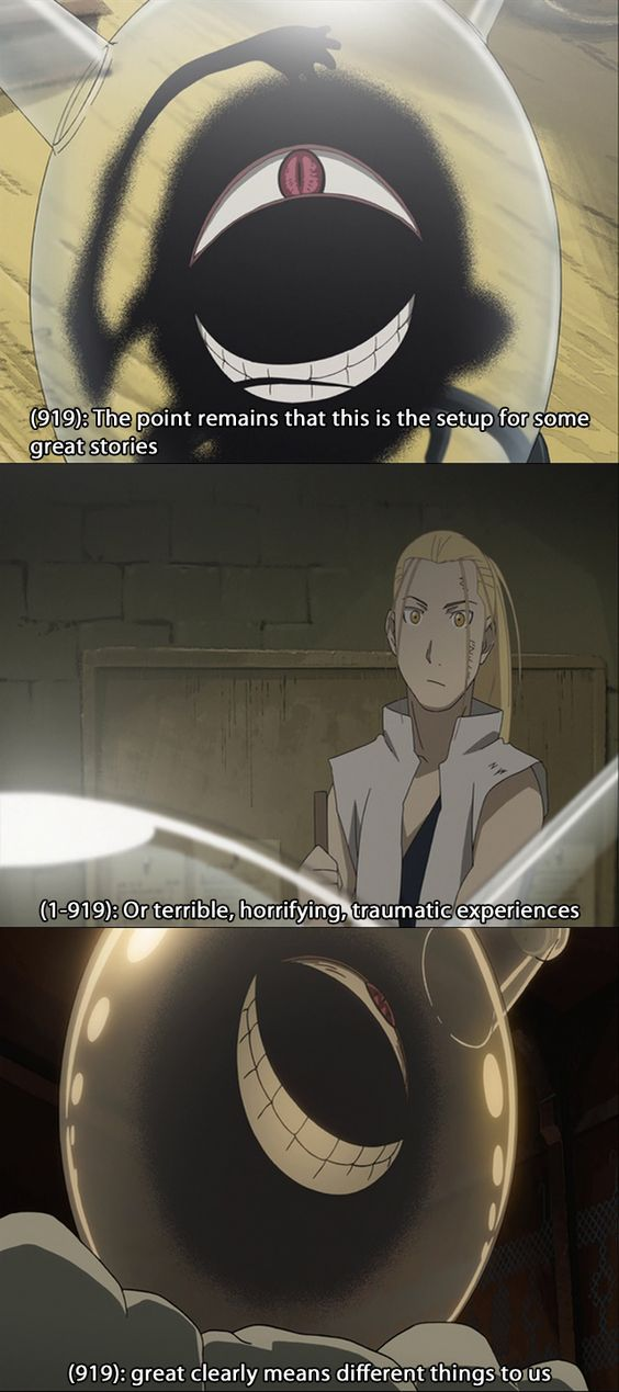 Texts From Fullmetal Alchemist