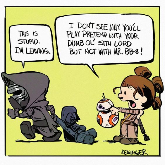 The Humorous STAR WARS and CALVIN & HOBBES Comic Art Continues — GeekTyrant