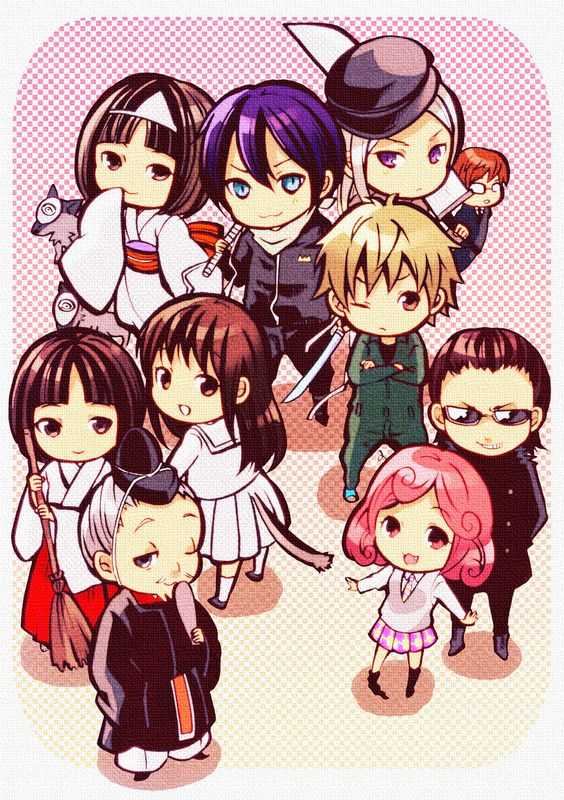 The Noragami characters in chibi. This anime is shaping up to be great, better not disappoint.