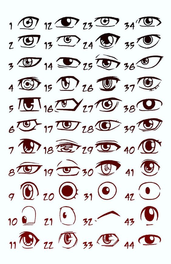 these are anime   I always seem to have trouble at drawing eyes for some reason, so I may have to refer back to this  :-)