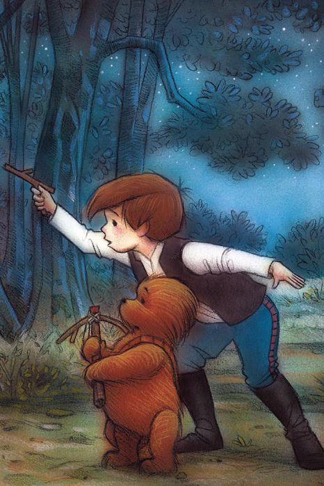 This Artwork Combines Star Wars and Winnie the Pooh, and It's Beautiful