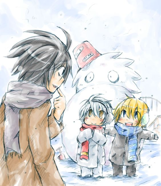 This is freaking adorable. | L, Near and Mello