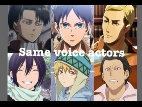 This is so cooll!! Noragami and Attack on titan has a lot in common when it comes to voiceactors!!!