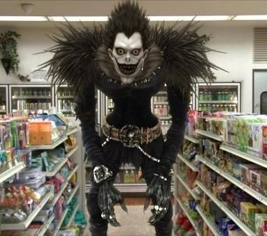 This is so legit I'm going to think twice before I go to the grocery store!!  Death Note Cosplay: Ryuk-Shinigami