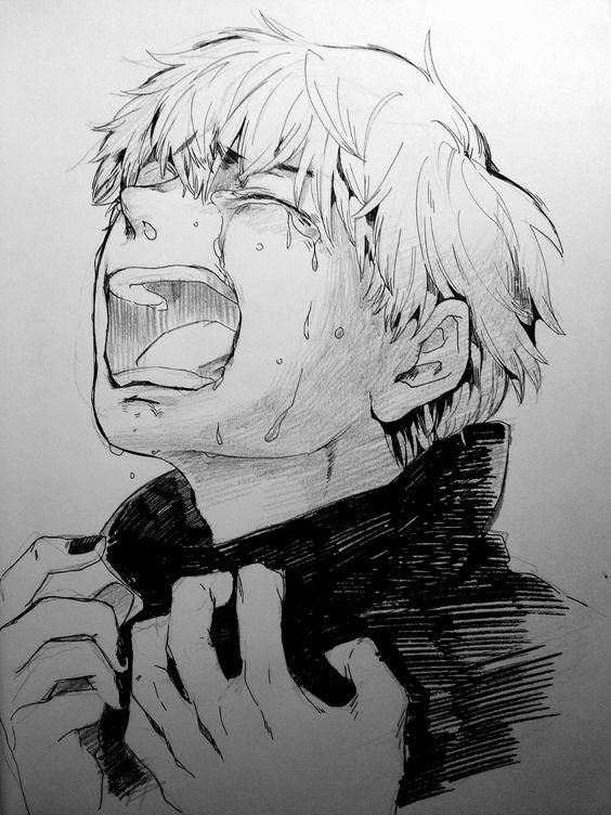 Tokyo Ghoul makes me cry like this. (Kaneki)