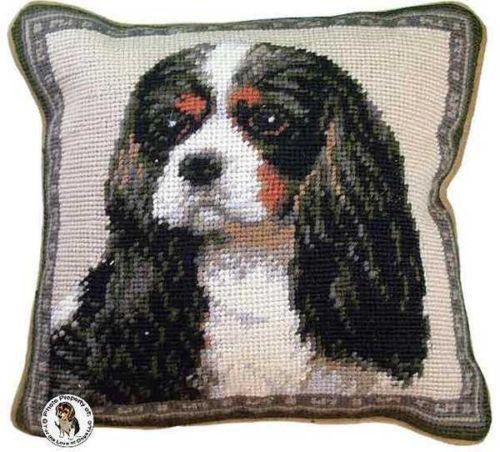Tri Color Cavalier King Charles Spaniel Dog Portrait - 10
