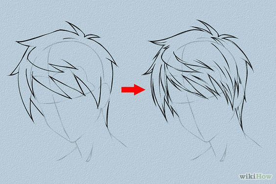 Tutorials on 6 Ways to Draw Anime Hair, from wikiHow.  This is a great reference! Not only are there step-by-step tutorials on how to draw hair for male and female characters, but there are also 2 charts of many different male/female hairstyle ideas. Check it out!