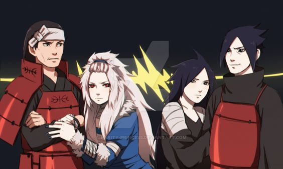 Uchiha vs Senju parents {Colored} by Rarity-Princess