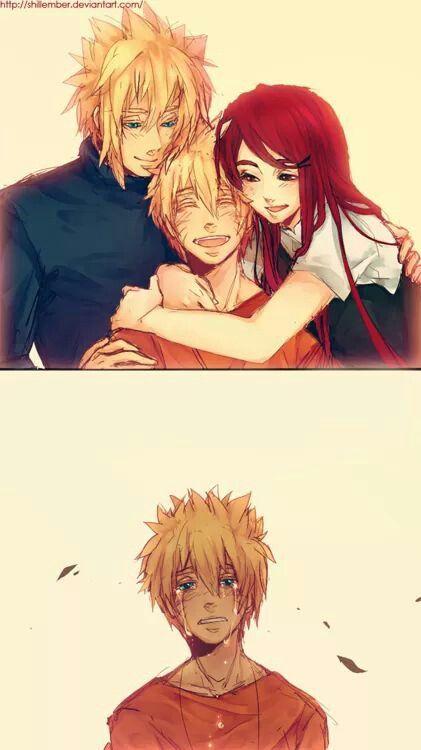 Uzumaki-Namikaze Family | Uzumaki Naruto, Uzumaki Kushina & Namikaze Minato | Naruto