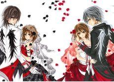 vampire knight anime yuki cross kuran kaname zero kiryu 2400x851 wallpaper