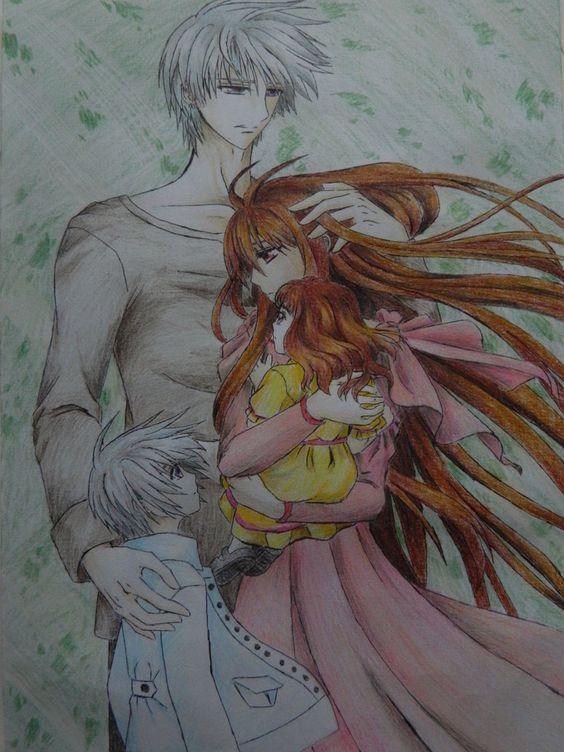 Vampire Knight - Zero, Yuuki and their children :')